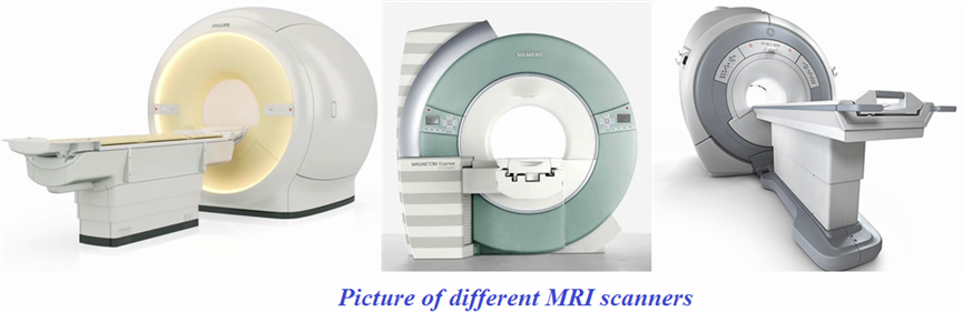 Pictures of different MRI scanners